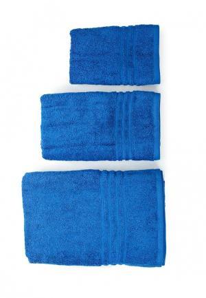 Комплект полотенец 3 шт. Arloni. Цвет: синий