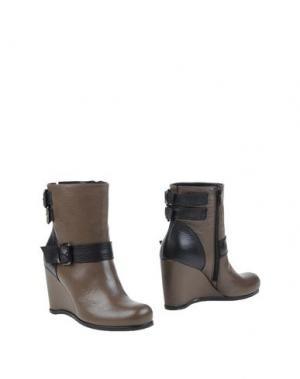 Полусапоги и высокие ботинки EMANUELA PASSERI. Цвет: хаки