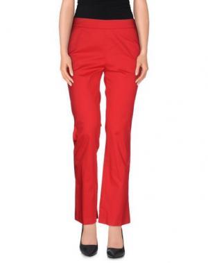 Повседневные брюки NORMALUISA. Цвет: красный
