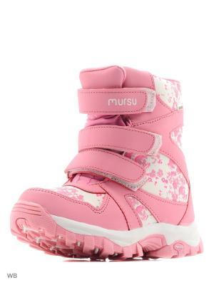 Сапоги Mursu. Цвет: розовый, белый