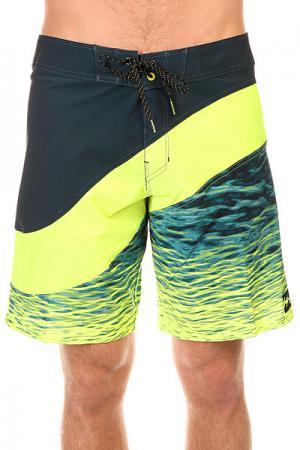 Шорты пляжные  Pulse X 19 Lime Billabong. Цвет: синий,зеленый
