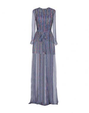 Длинное платье HUISHAN ZHANG. Цвет: синий