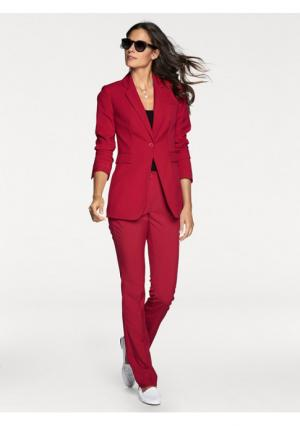 Брючный костюм, 2 части PATRIZIA DINI. Цвет: голубой, красный, розовый, серо-коричневый, темно-синий, черный