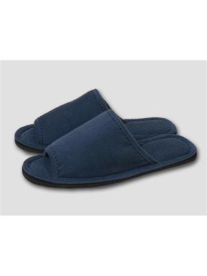 Тапочки мужские с открытым носком Dream time. Цвет: синий