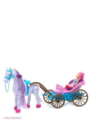 Игрушка Лошадка с каретой S-S. Цвет: фиолетовый, розовый, зеленый