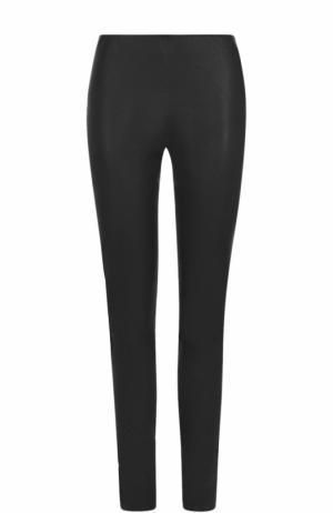 Кожаные брюки-скинни By Malene Birger. Цвет: черный