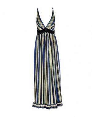 Длинное платье TENAX. Цвет: ярко-синий