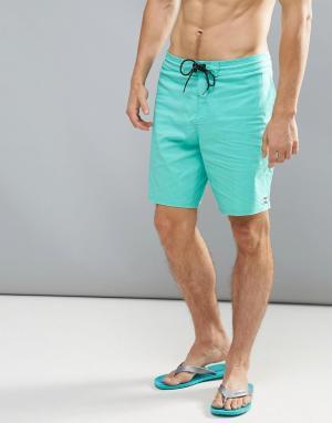 Billabong Синие пляжные шорты All Day 18 дюймов. Цвет: синий