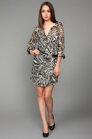 Платье Hale Bob. Цвет: черно-белый