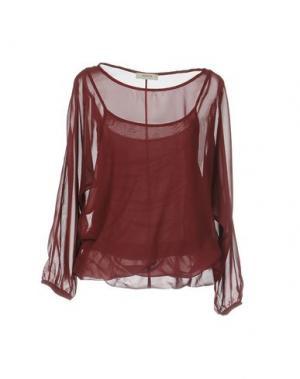Блузка ALPHA STUDIO. Цвет: красно-коричневый