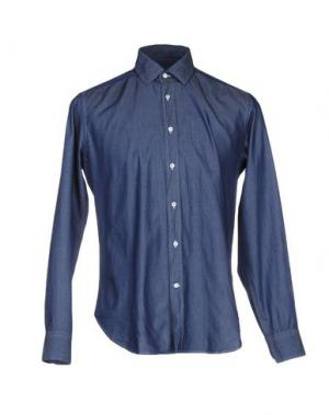 Джинсовая рубашка CRUCIANI. Цвет: синий