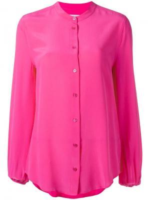 Рубашка без воротника Equipment. Цвет: розовый и фиолетовый