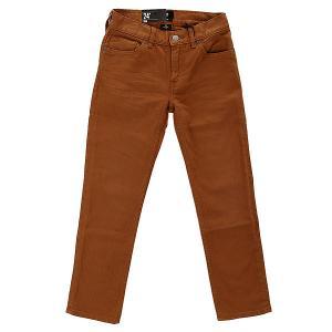 Джинсы узкие детские DC Col Slim Jn You B Pant Wheat Shoes. Цвет: коричневый