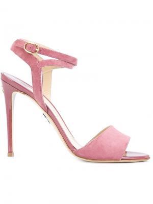 Босоножки Laura Paul Andrew. Цвет: розовый и фиолетовый