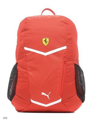 Рюкзак Ferrari Fanwear Backpack Puma. Цвет: красный