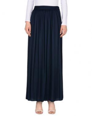 Длинная юбка PUROTATTO. Цвет: темно-синий