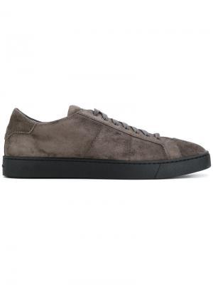 Кроссовки на шнуровке Santoni. Цвет: серый