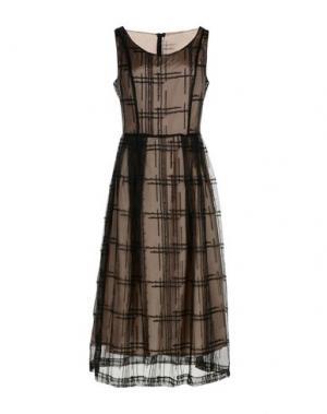 Платье длиной 3/4 MAISON LAVINIATURRA. Цвет: черный