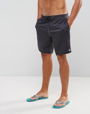 Billabong Пляжные шорты All Day. Цвет: черный