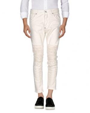 Джинсовые брюки IMB I'M BRIAN. Цвет: слоновая кость