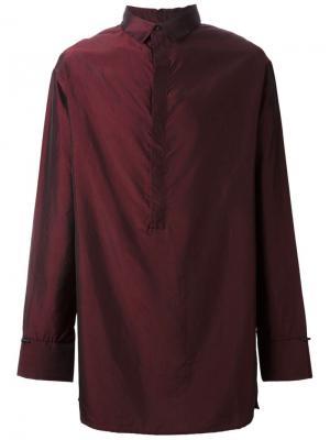 Рубашка с эффектом металлик Tony Cohen. Цвет: красный