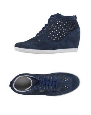 Высокие кеды и кроссовки KEYS. Цвет: грифельно-синий