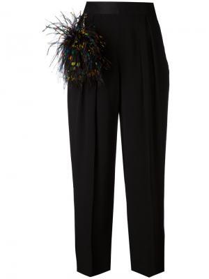 Широкие брюки Christopher Kane. Цвет: чёрный