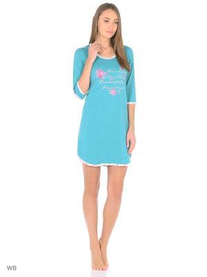 Ночная сорочка HomeLike. Цвет: бирюзовый