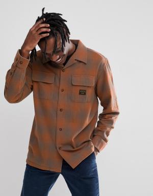 Emerica Светло-коричневая рубашка в клетку x Pendleton. Цвет: рыжий