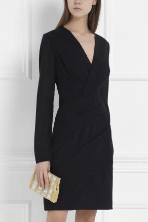 Платье из шерсти и шелка J. Mendel. Цвет: черный