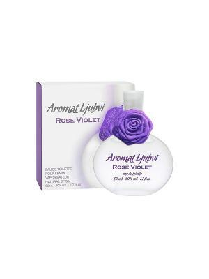 Туалетная вода для женщин Aromat Ljubvi Rose Violet  (Аромат любви роуз вайлет) жен.50ml APPLE PARFUMS. Цвет: прозрачный