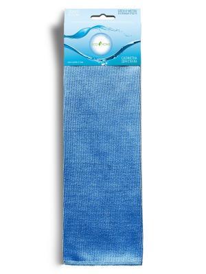 Ecohome Салфетка для СТЕКЛА из микрофирбы. Цвет: голубой