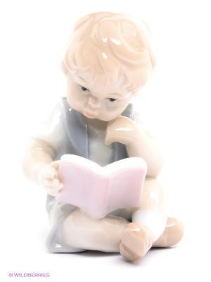Фигурка Книга - лучший друг Pavone. Цвет: белый, бежевый