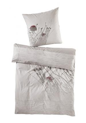 Постельное белье Heine Home. Цвет: молочно-белый