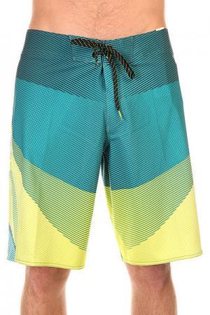 Шорты пляжные  Fluid X 21 Lime Billabong. Цвет: желтый,синий