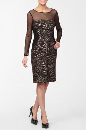 Платье Frank Lyman Design. Цвет: черно-золотой