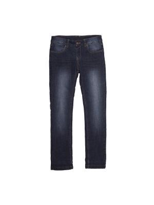 Джинсовые брюки Button Blue. Цвет: голубой