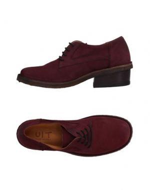 Обувь на шнурках UIT. Цвет: красно-коричневый
