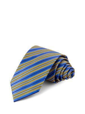 Галстук CASINO. Цвет: синий, оливковый