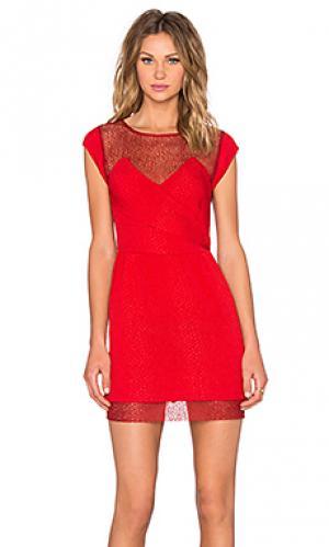 Мини платье The Kooples. Цвет: красный