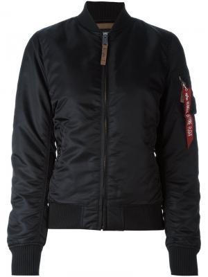 Куртка-бомбер Alpha Industries. Цвет: чёрный