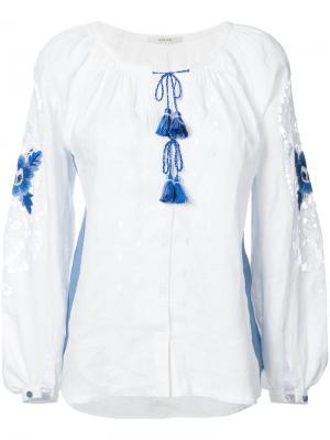 Рубашка с вышивкой Vita Kin. Цвет: белый
