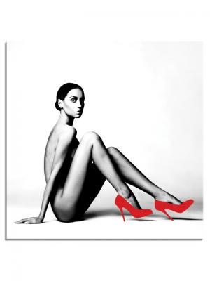 Картина Красные туфли Styler. Цвет: черный, красный, серебристый