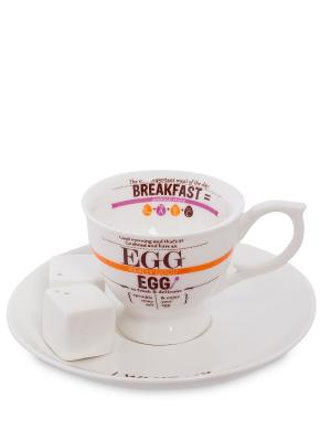 Набор для завтрака Top Choice. Цвет: белый