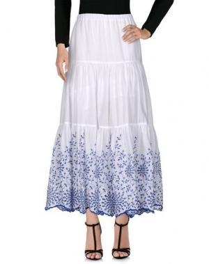 Длинная юбка MANUEL LUCIANO. Цвет: белый