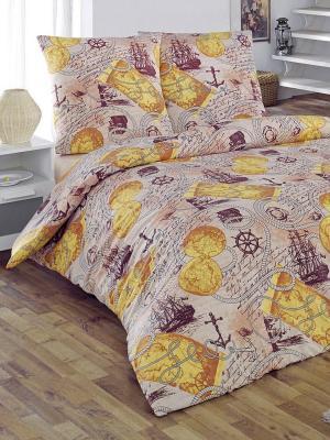 Комплект постельного белья Вояж Тет-а-Тет. Цвет: коричневый, бежевый