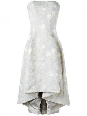 Жаккардовое платье без бретелек Carine Gilson. Цвет: серый