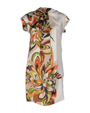 Короткое платье ANGELA MELE MILANO. Цвет: слоновая кость