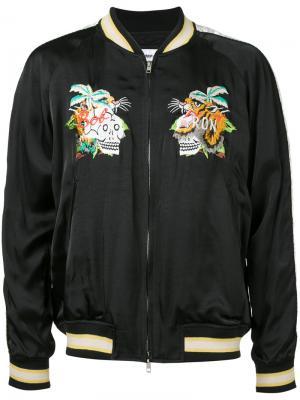 Куртка с вышивкой Doublet. Цвет: чёрный