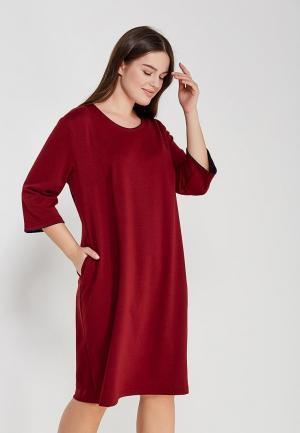 Платье XLady. Цвет: бордовый